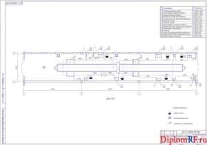 Чертеж планировки зоны диагностики после реконструкции (формат А1)
