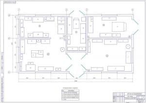 Схема план пункта технического обслуживания комплекса  (формат А1)