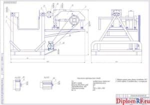 Чертёж общего вида стенда для устранения дефектов двигателя (формат А1)