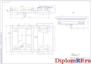 Сборочный чертеж подвижной рамы (формат А1)