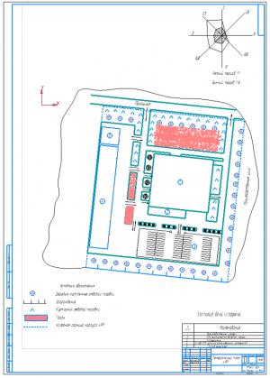 1.Генеральный план территории автотранспортного предприятия АТП на формате А1