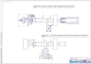 Чертеж Схема наладки токарной и шлифовальной операции (формат А1)