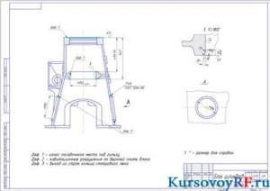 Ремонтный чертеж блока цилиндров (формат А1)