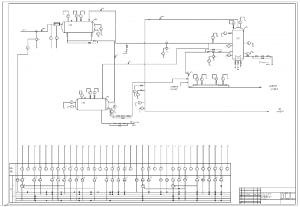 Чертеж функциональной схемы автоматизации на формате А1