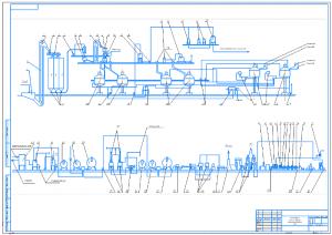 1.Аппаратурно-технологическая схема производства пива А1