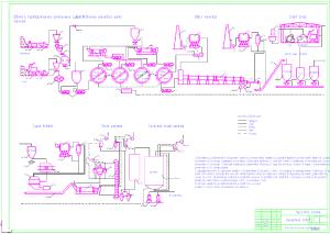 Чертеж технологической схемы цементного завода А1