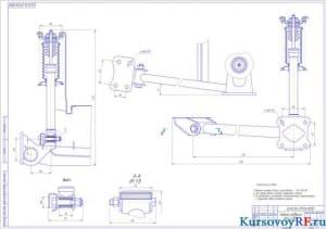 Чертеж задней подвески ВАЗ-2109 (формат А1)
