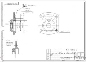 1.Ремонтный чертеж боковой крышки механизма рулевого управления из материала чугун ковкий КЧ 35-19 А3