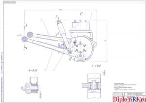 Чертёж сборочный задней подвески на пневмоэлементах УАЗ (формат А1х2)