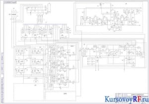 Чертеж привода манипулятора ПР. Схема управления электрическая принципиальная А1