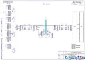 Схема организации связи ЦСП ИКМ-1920, Чертеж общего вида А2