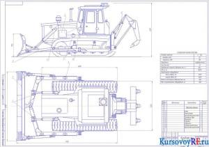 Бульдозер на базе Т-130 А1