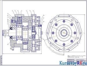 Сборочный чертеж гидромотора А1