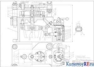 кондуктор двухместный пневматический сборочный чертеж