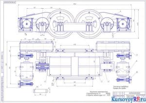 Механизм подъема главной тележки литейного крана