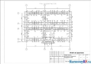 План фундаментов М:100
