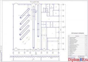 Схема производственный комплекс после реконструкции (формат А 1)