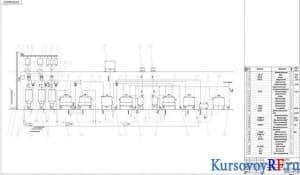 Чертеж аппаратурно-технологической схемы варочного цеха