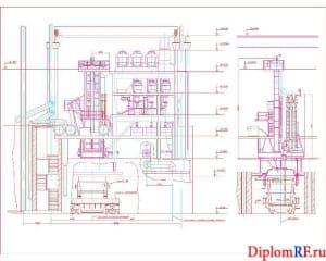 Чертёж общего вида агрегата доводки стали (формат А1)