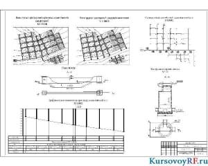План города, схемы сети, профиль коллектора сети, конструкция колодца