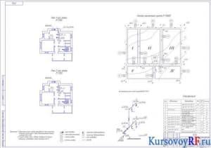 Чертеж плана 1и 2 этажей, генплан населенного пункта, аксонометрическая схема внутридомового газопровода