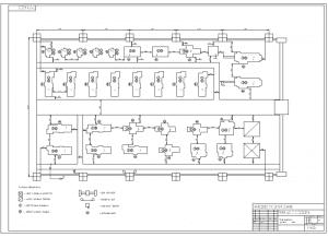 1.Чертеж плана проектирования механического цеха А1