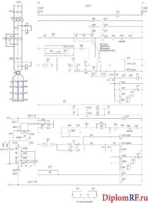 Фрагмент электрической схемы – эскизный чертеж