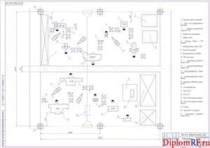 Чертёж планировки участка (формат А1)