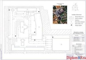 Чертёж генерального плана Балаковского ПАТК (формат А1)