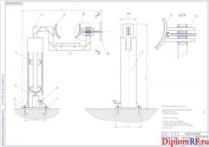 Чертеж стенд для ремонта КПП (формат А1)