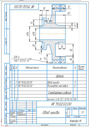 1.Рабочий чертеж обода шкива А4