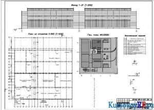 Чертеж план первого этажа на отметке 0.000