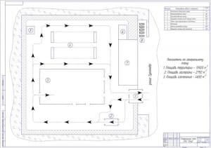 1.Генеральный план таксомоторного предприятия А1
