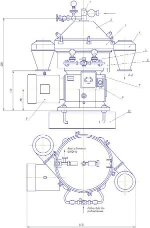 1.Габаритный чертеж конструкции сепаратора