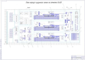 1.План цеха мощностью 60000 тонн чугунного литья в год А0