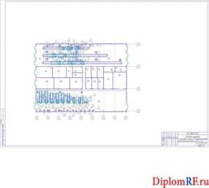 Чертёж компоновки помещений производственного корпуса (формат А1)