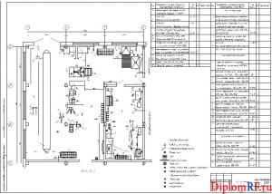 Чертеж планировки шинного комплекса (формат А1)