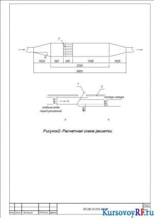 Расчетная схема решетки