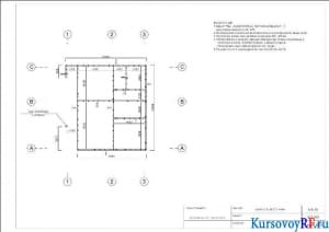 План стен второго этажа
