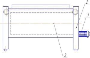 16. Эскизный чертеж конструкции