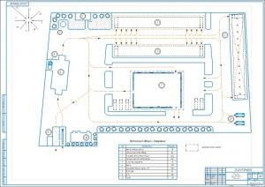 1.Генеральный план территории автотранспортного предприятия А1