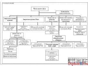 Схема организационная структура электротехнического цеха (формат А1)