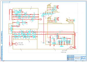 1.Кинематическая схема станка модели 16К20Ф3С32 на формате А1