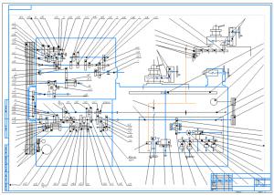 1.Кинематическая схема станка 16К20 на формате А1