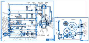 1.Сборочные чертежи привода главного движения универсального вертикально-фрезерного станка на форматах А1 и А2