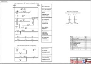Схема принципиальная АВР секционного выключателя (формат А1)