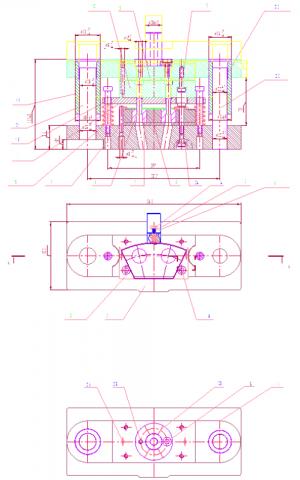 1.Сборочный чертеж штампа для пробивки отверстий в детали Сектор
