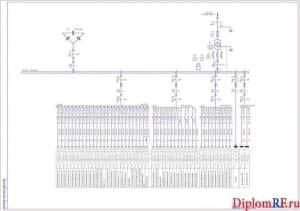 Схема однолинейная ремонтно-механического цеха – 2 листа (формат А1)