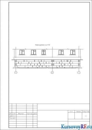 Развертка фундамента по оси М :100