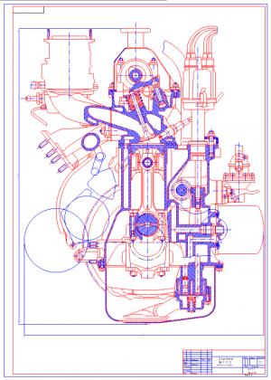2.Разрез ДВС -2103 поперечный А1